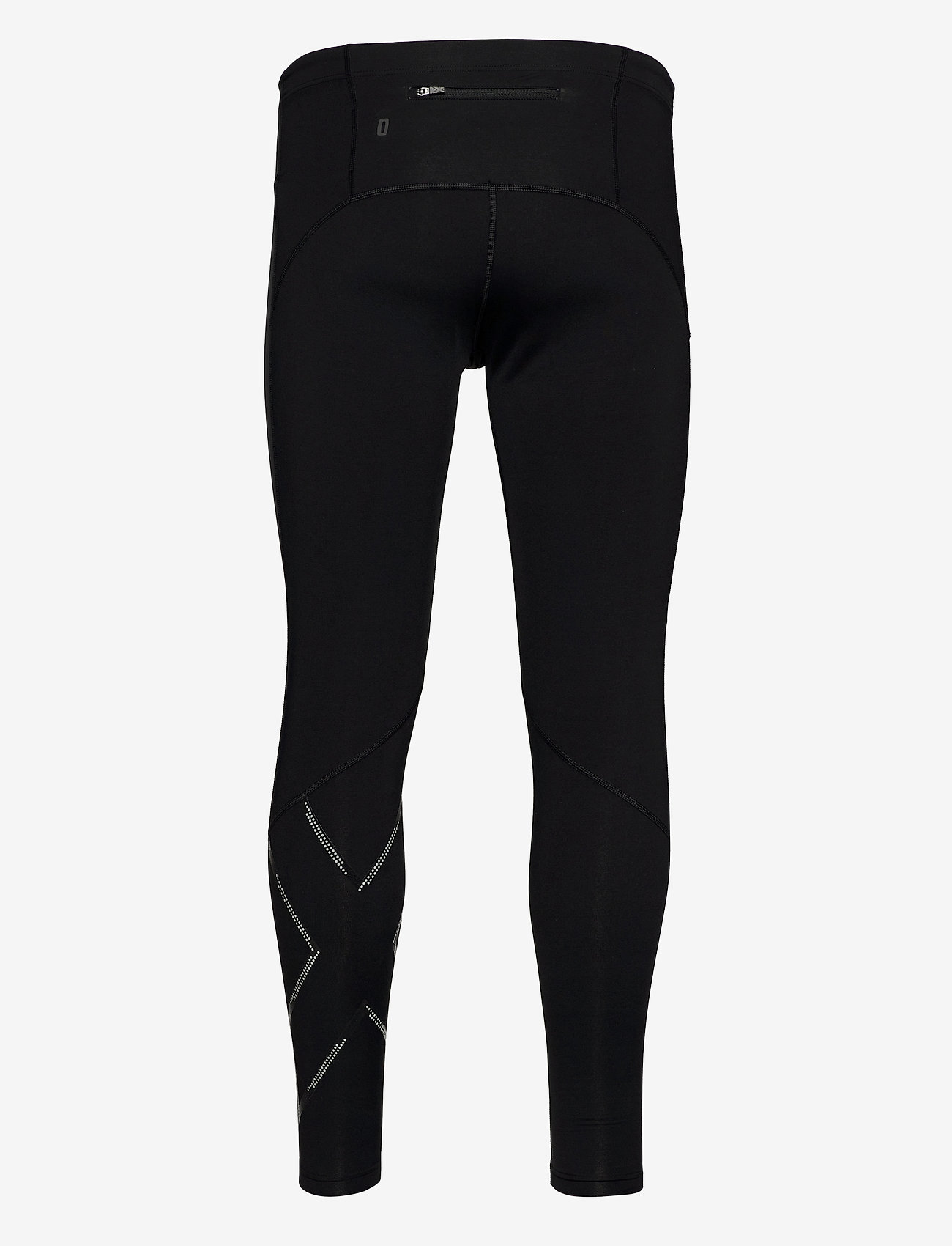 2XU WIND DEFENCE COMPRESSION TIGH - Tights & Shorts BLACK/STRIPED SILVER REFLECTIV - Menn Klær