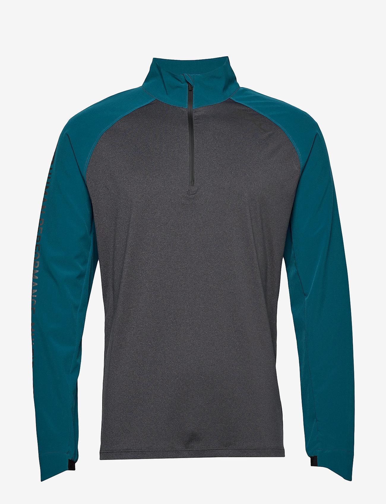 2XU - GHST 1/4 Zip Pullover-M - overdele - corsair/black marle - 0