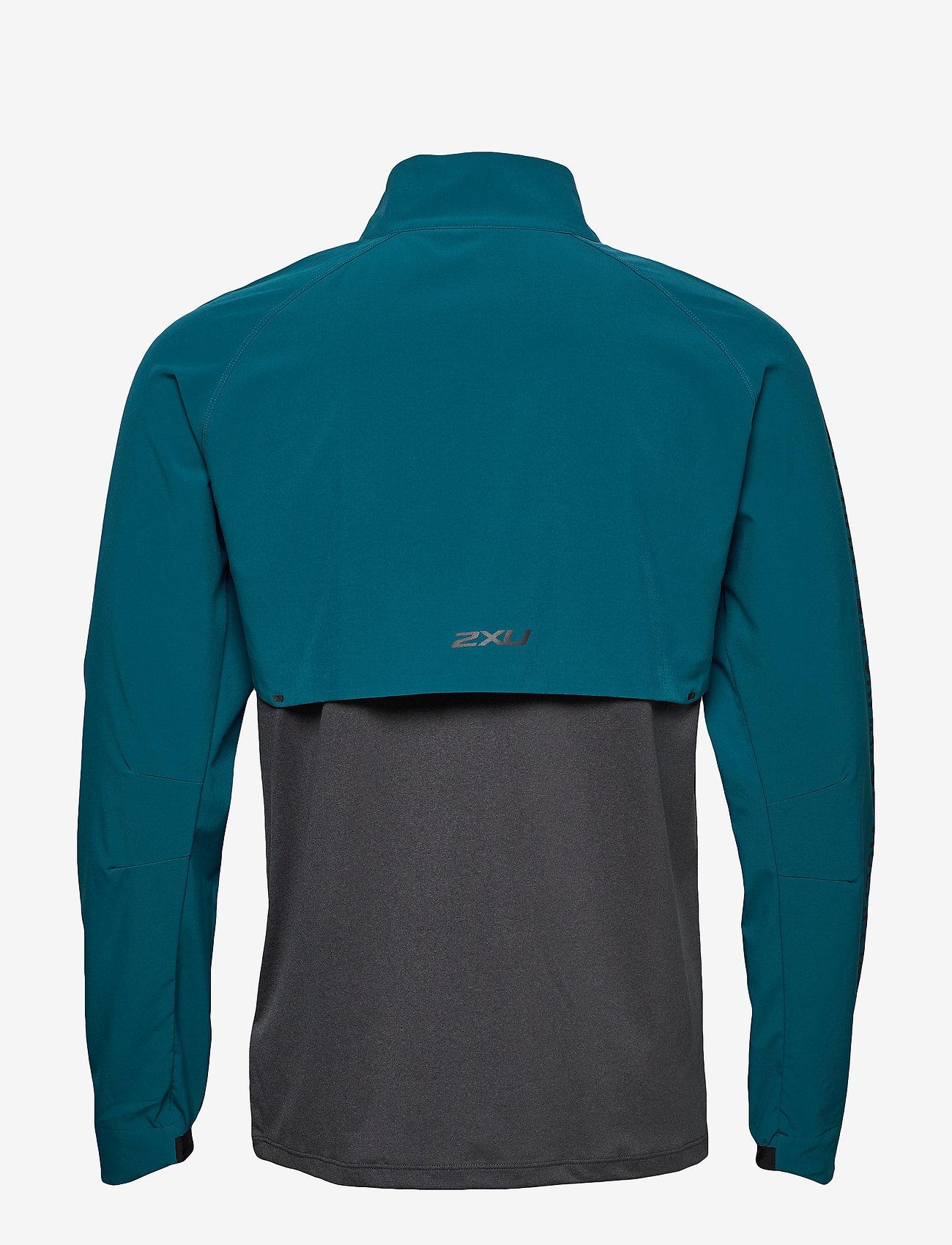 2XU - GHST 1/4 Zip Pullover-M - overdele - corsair/black marle - 1