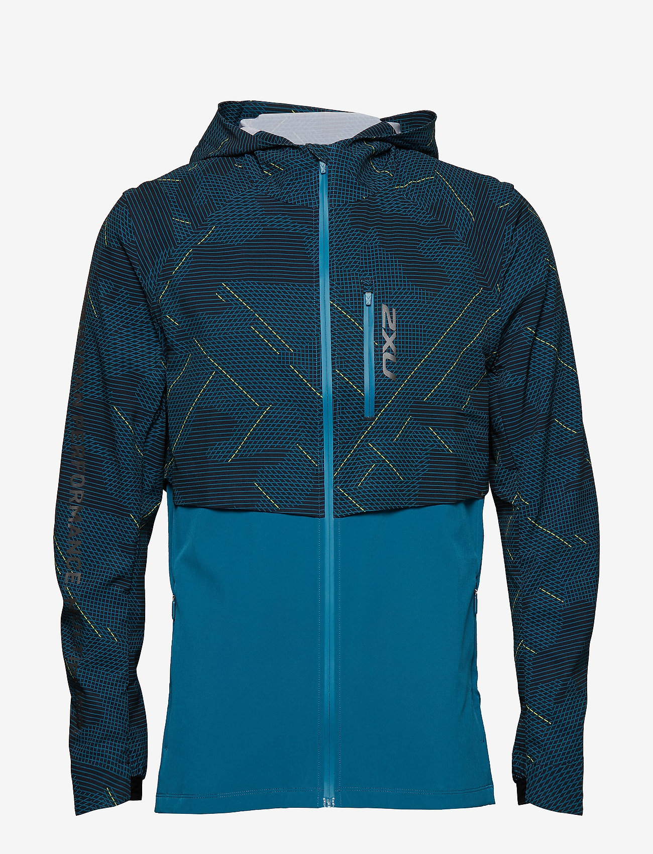 2XU - GHST Woven 2 In 1 Jacket-M - training jackets - linear camo large/black - 0