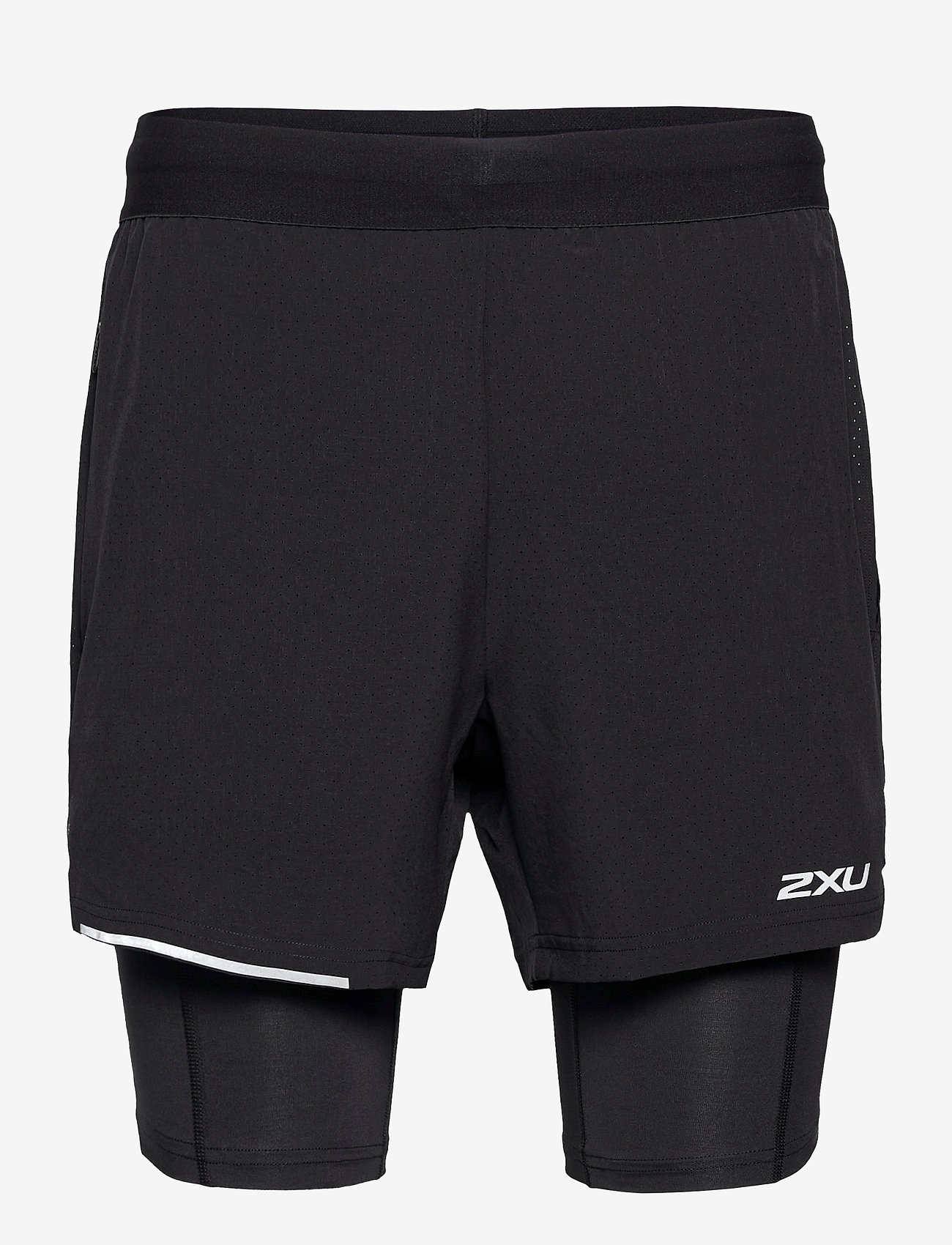 2XU - XVENT 2-in-1 5 Inch Short-M - trainingsshorts - black/silver reflective - 0