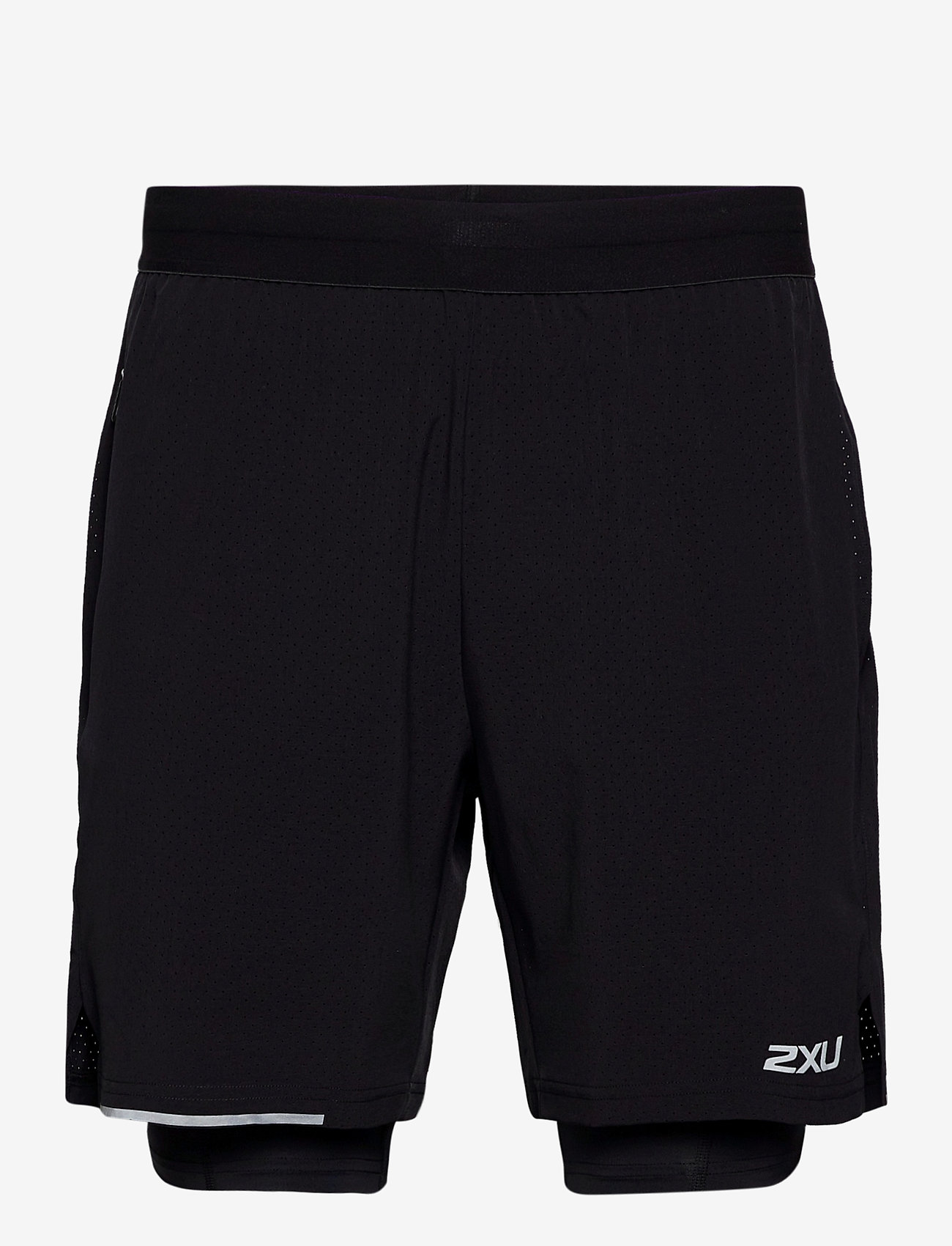 2XU - XVENT 2-in-1 7 Inch Short-M - trainingsshorts - black/silver reflective - 0