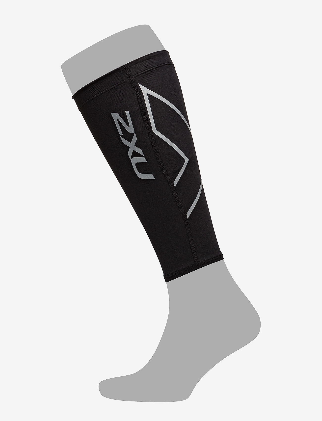 2XU - COMPRESSION CALF GUARDS - leggstøtte - black/black - 0