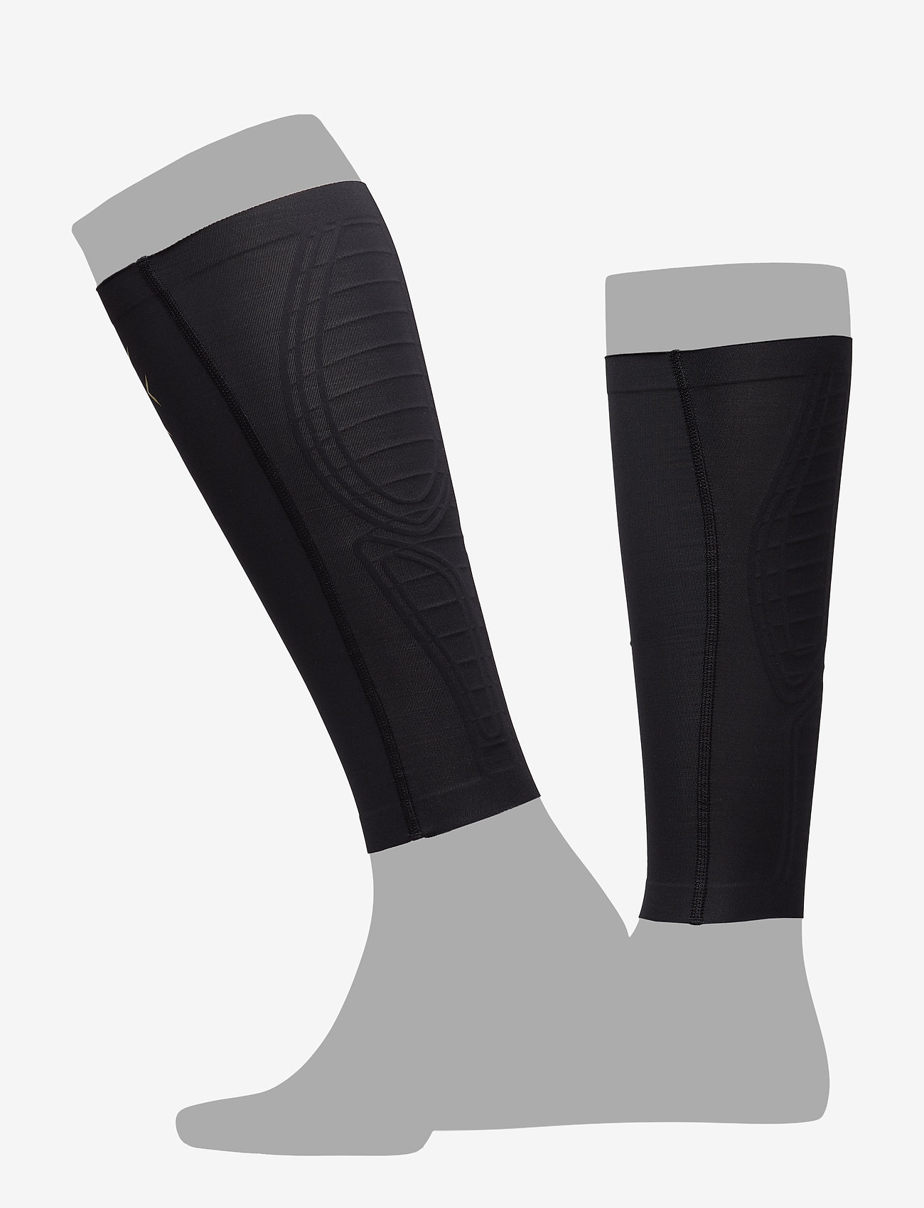 2XU - LIGHT SPEED COMPRESSION CALF - leg støtte - black/gold - 0