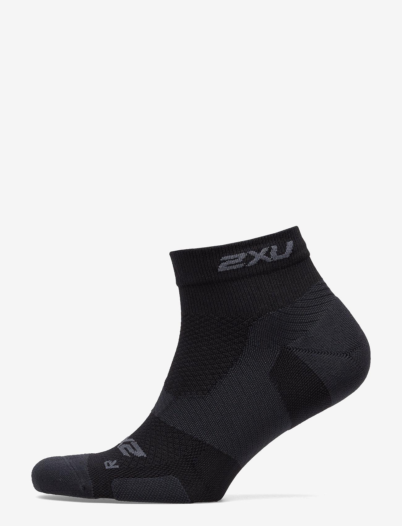 2xu Vectr Lightcush 1/4crew Sock-u - Strumpor & Tights Black/titanium