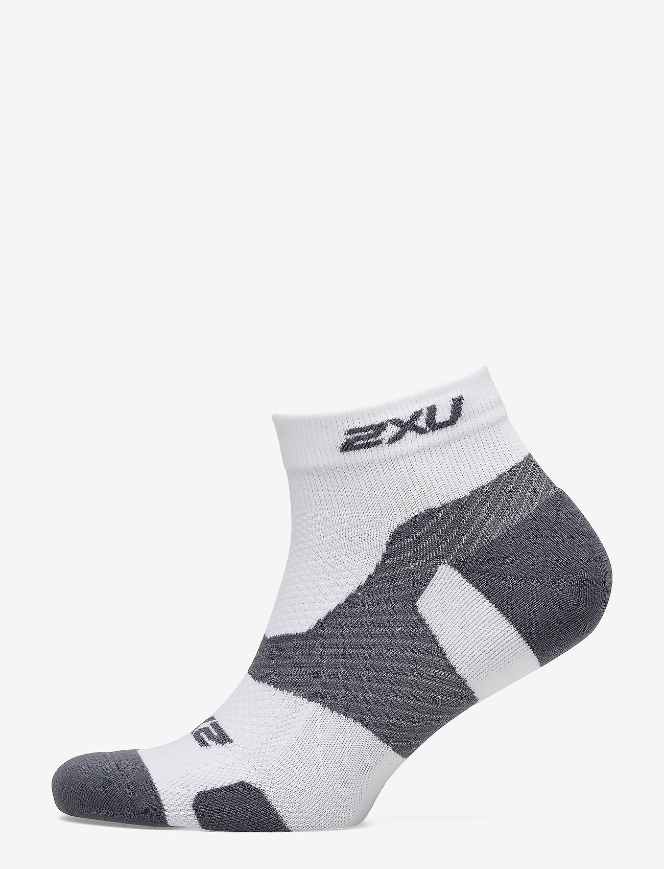 2XU - VECTR LIGHT CUSH 1/4 CREW SOC - ankelstrumpor - white/grey - 1