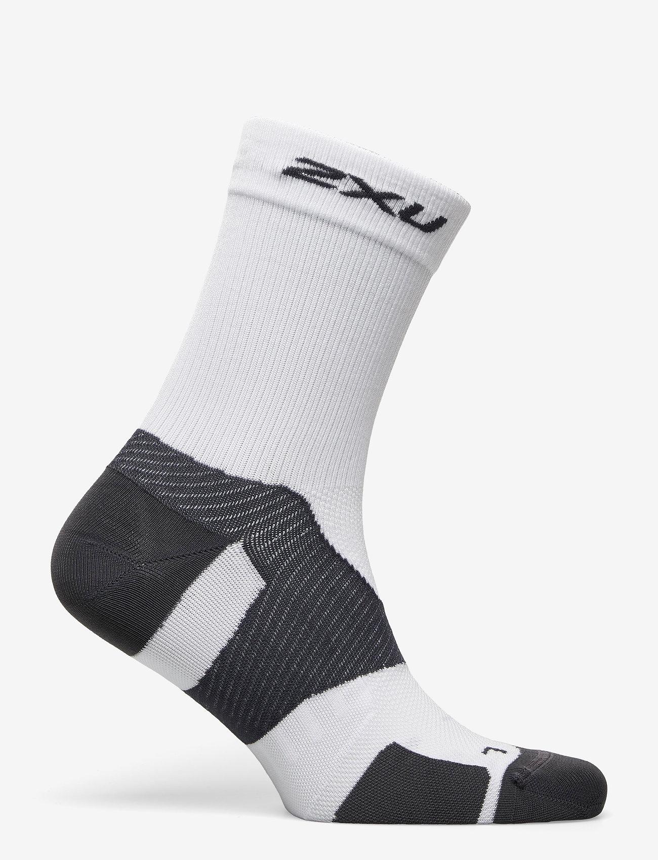 2XU - VECTR ULTRALIGHT CREW SOCKS - kousen - white/grey - 1