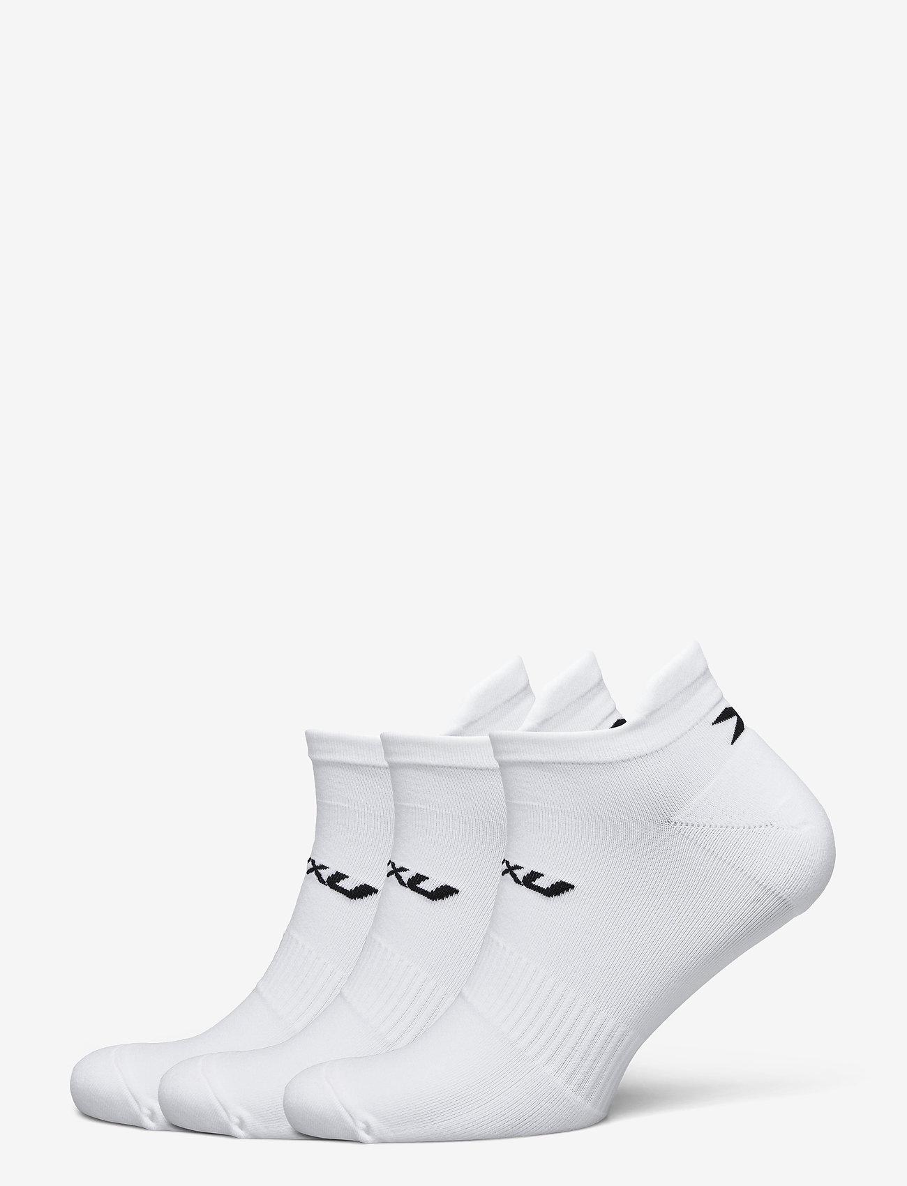 2XU - ANKLE SOCKS 3 PACK - ankelstrumpor - white/black - 0