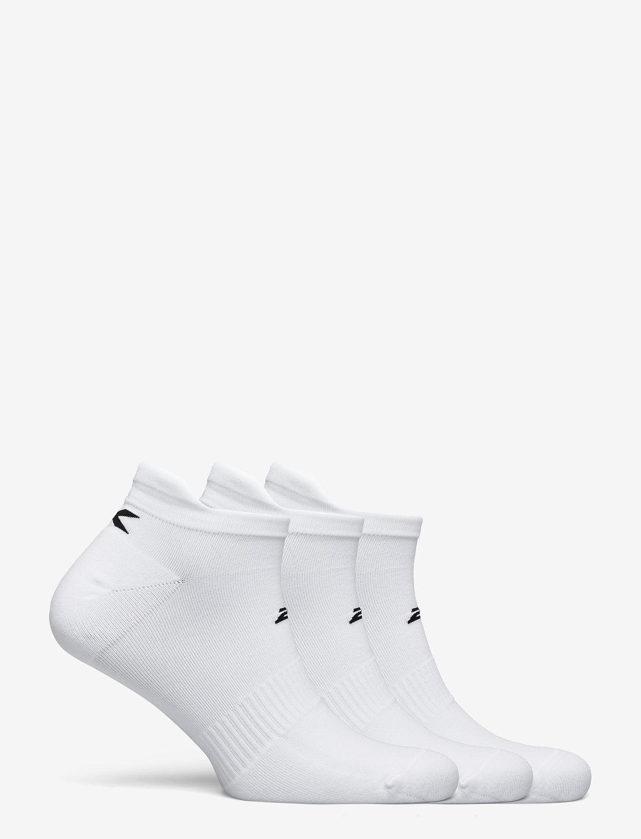 2XU - ANKLE SOCKS 3 PACK - ankelstrumpor - white/black - 1