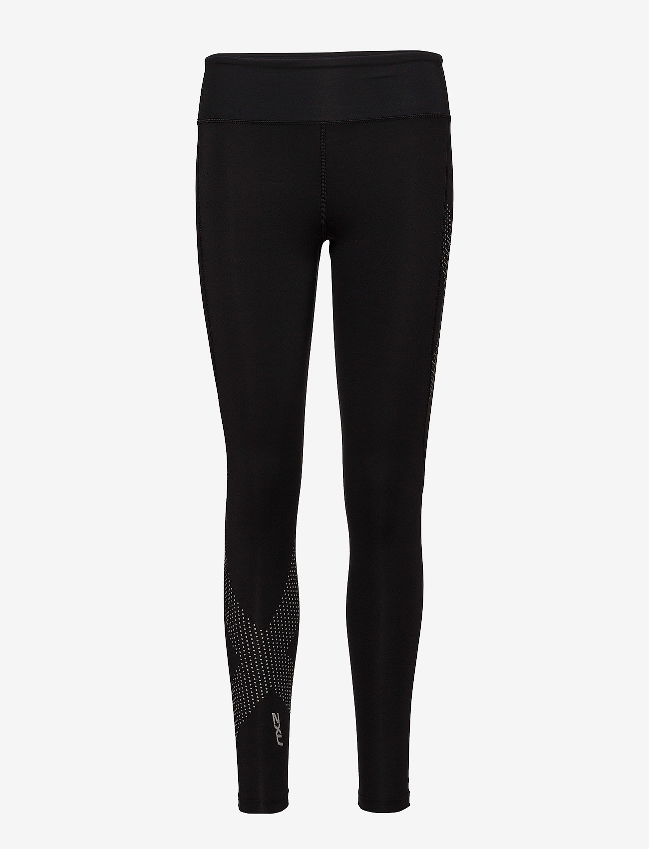 2XU - MOTION MID-RISE COMPRESSION T - sportleggings - black/dotted reflective logo - 0