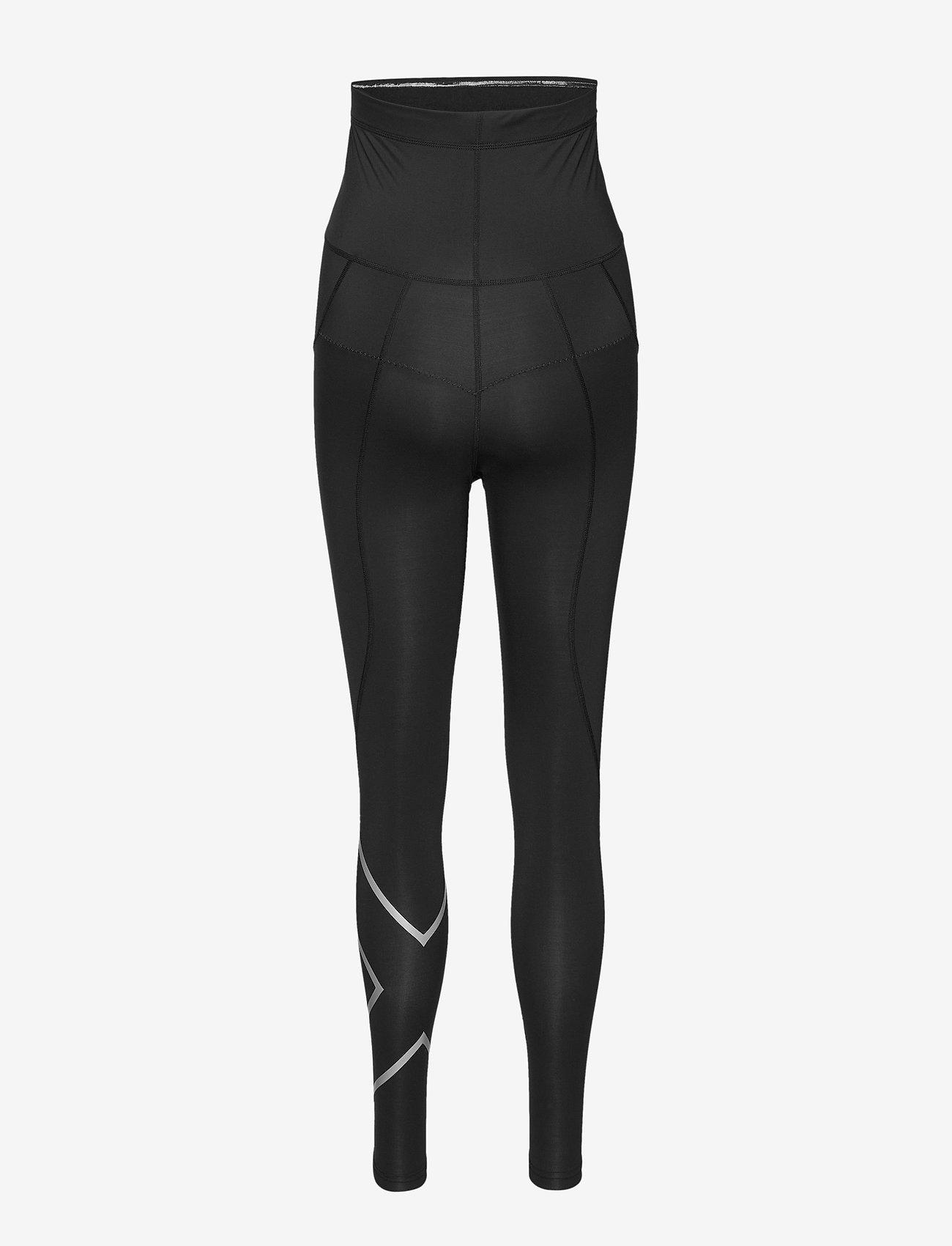 2XU - Prenatal Maternity Comp Tights-W - sportleggings - black/silver - 1