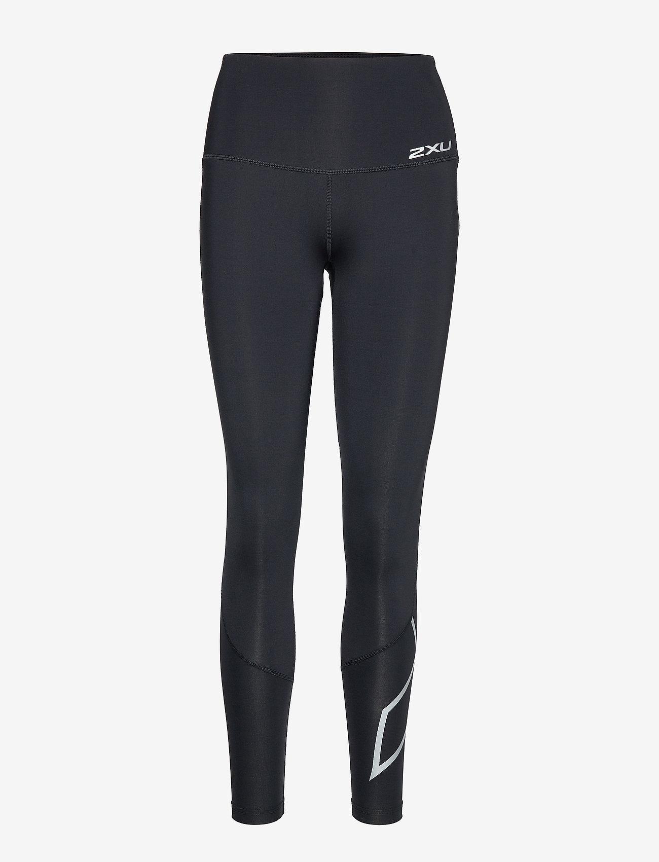2XU - MOTION HI-RISE COMPRESSION TI - sportleggings - black/silver x logo - 0