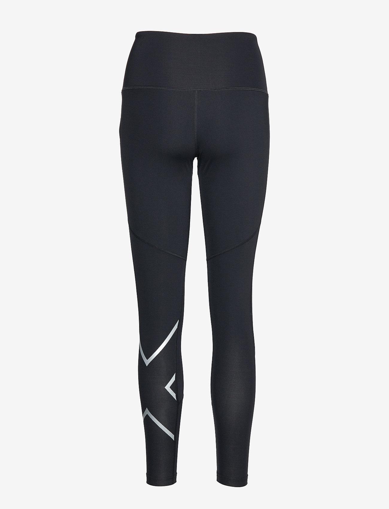2XU - MOTION HI-RISE COMPRESSION TI - sportleggings - black/silver x logo - 1