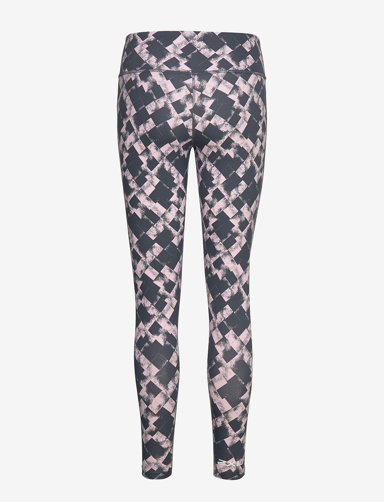 2XU - PrintFitnMidRiseComp Tights-W - compression tights - textured blossom check/wht
