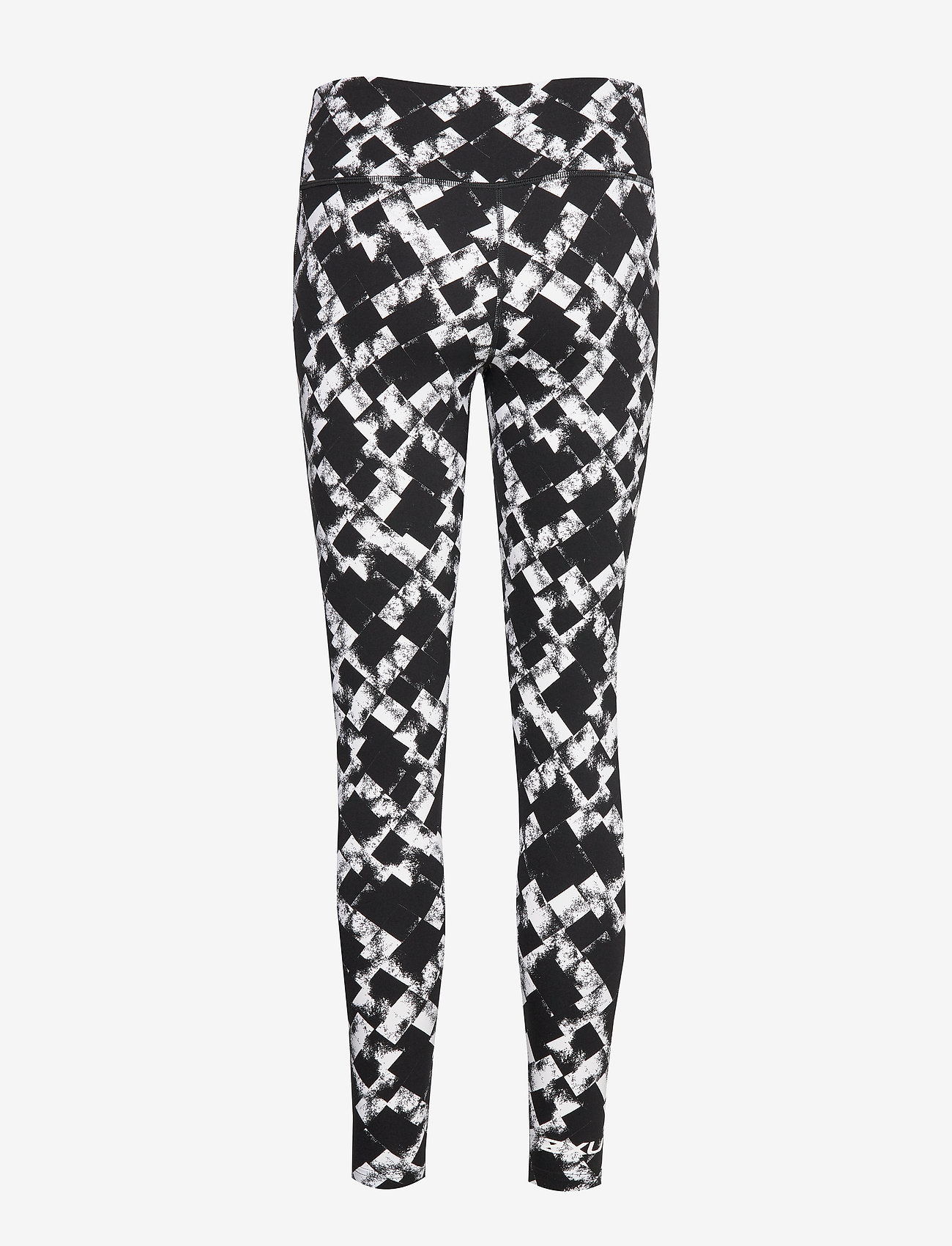 Printfitnmidrisecomp Tights-w (Textured Check Black/white) - 2XU 89jlu0