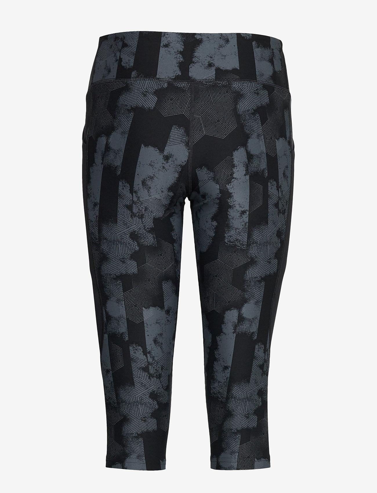 2XU - Print MidRise Pocket3/4Comp-W - compression tights - geo stripe/black