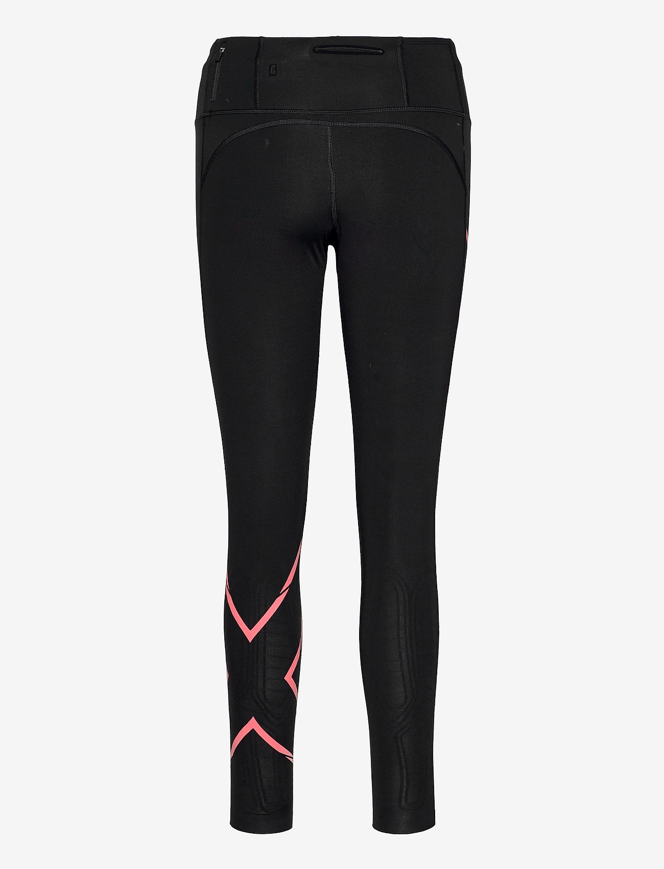2XU - LIGHT SPEED MID-RISE COMPRESS - sportleggings - black/cranberry reflective - 1