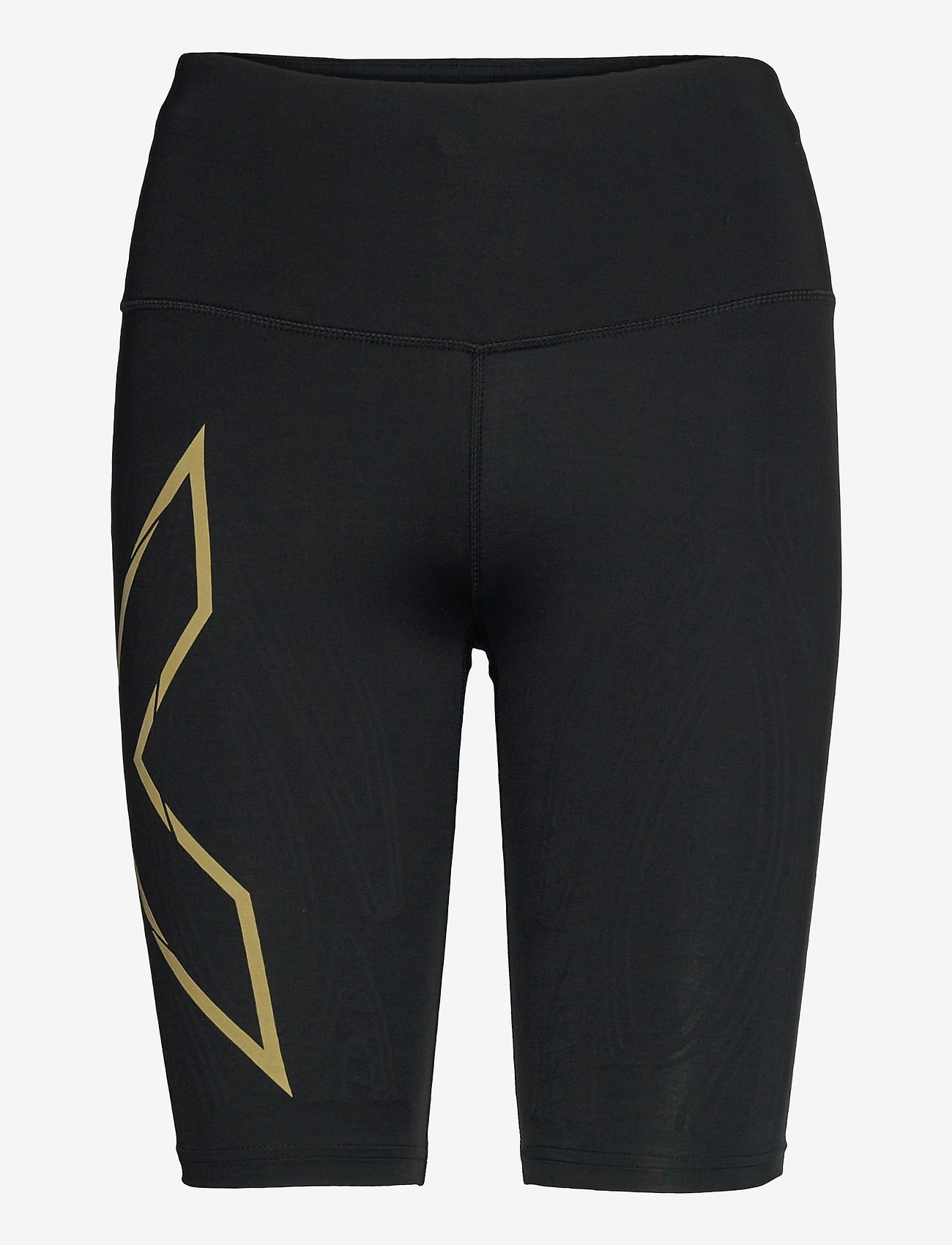 2XU - LIGHT SPEED MID-RISE COMPRESS - training korte broek - black/gold reflective - 0