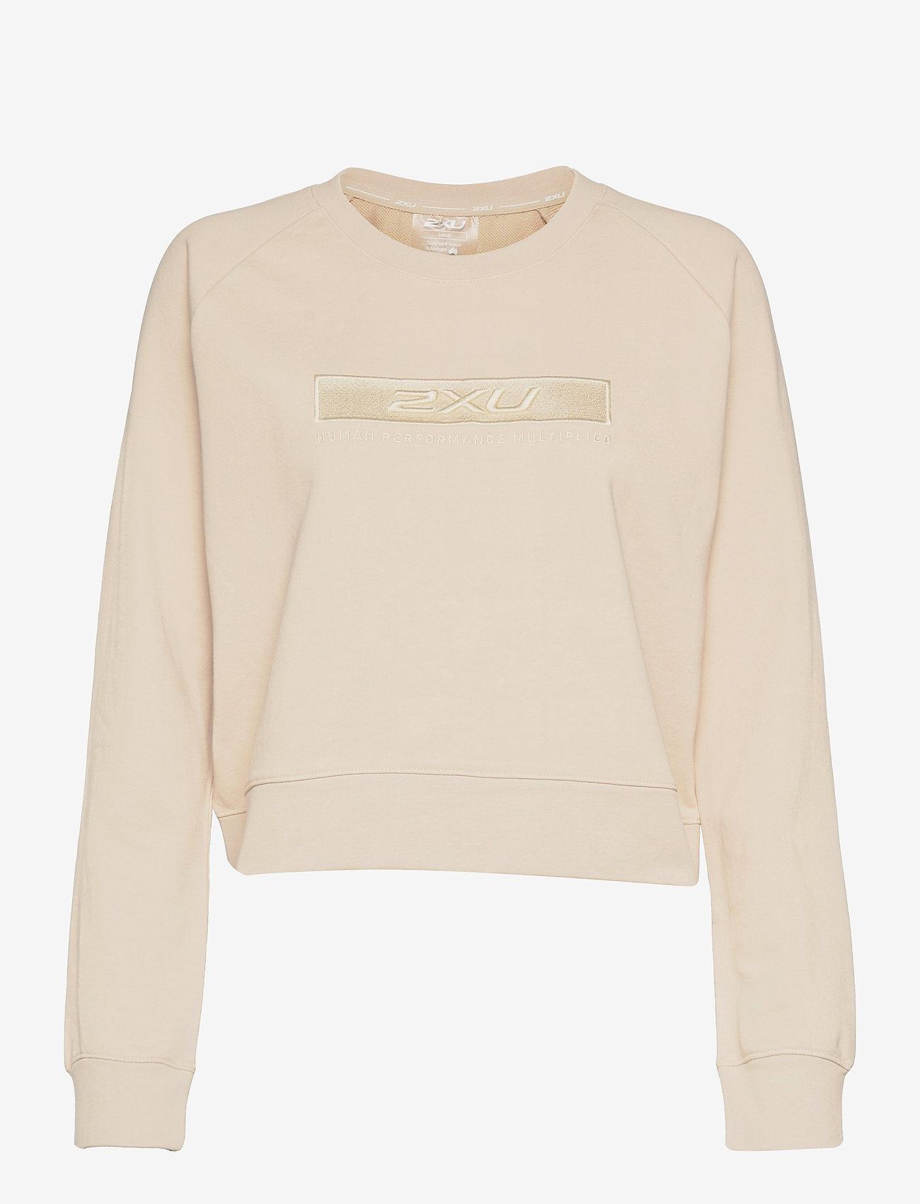 2XU - FORM CROP CREW - sweatshirts - oatmeal/oatmeal - 0