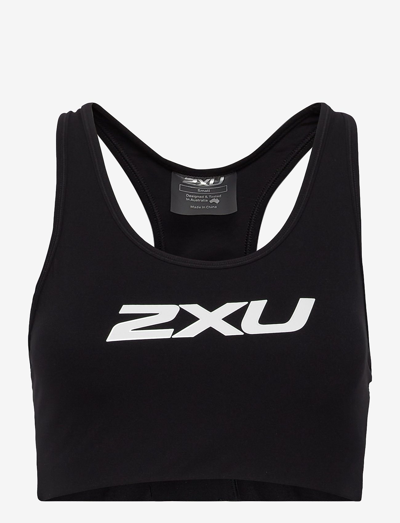 2XU - MOTION RACERBACK CROP - sport bras: medium - black/white - 0