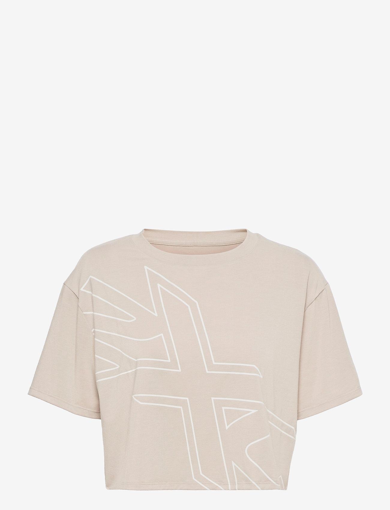 2XU - FORM CROP TEE - navel shirts - oatmeal/white - 0