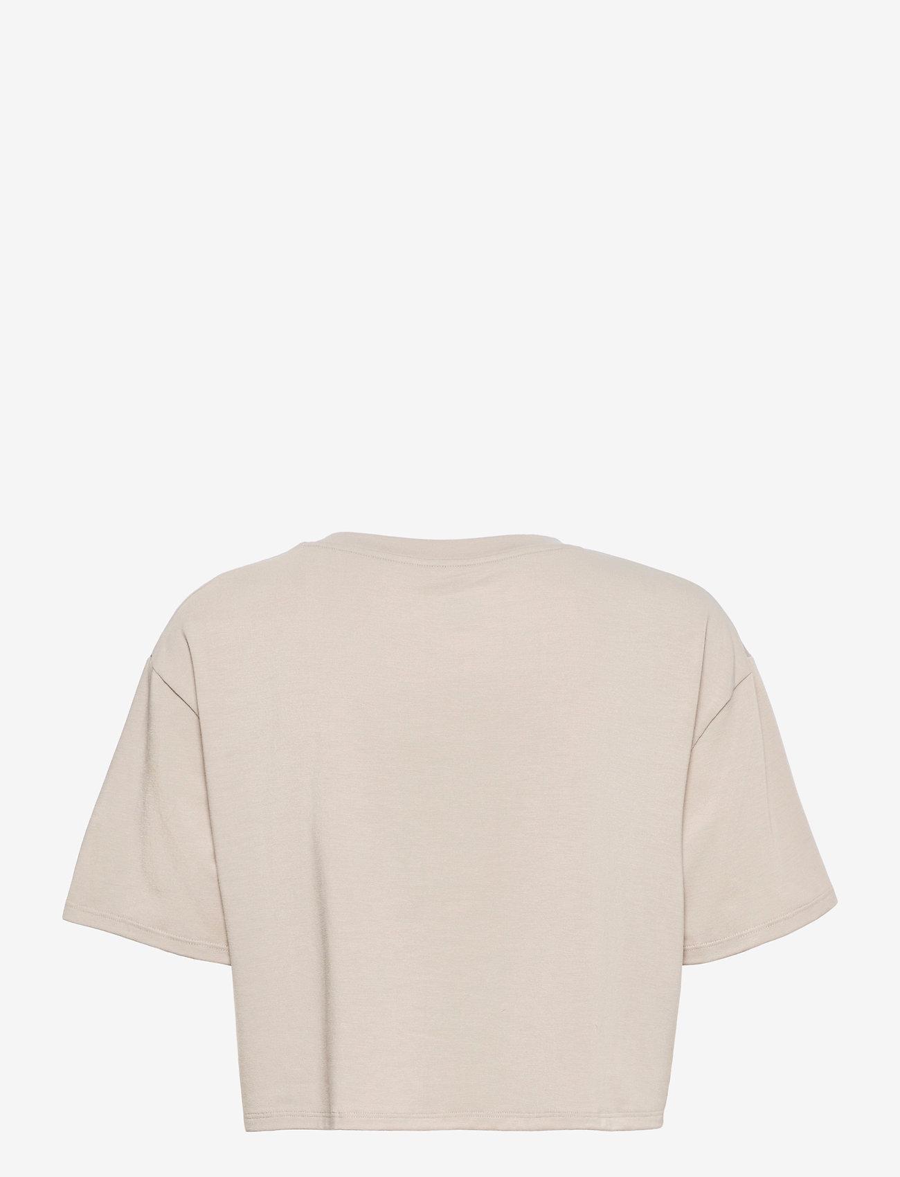2XU - FORM CROP TEE - navel shirts - oatmeal/white - 1