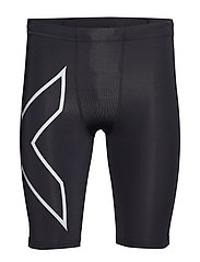 Run Comp Shorts w/Storage-M - BLACK/SILVER REFLECTIVE
