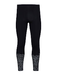 MCS Run Thermal Compression Tights - BLACK/SILVER LIGHTBEAMS REFLECTIVE