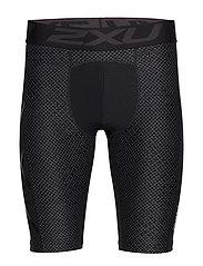 Print Accel Comp Shorts-M - TEXTURED MESH CHARCOAL/BLACK