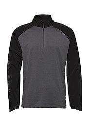 GHST 1/4 Zip Pullover-M - BLACK/BLACK MARLE