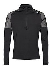 LIGHT SPEED 1/2 ZIP - BLACK/SILVER REFLECTIVE