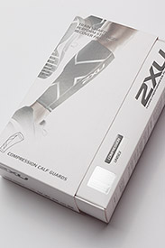 2XU - COMPRESSION CALF GUARDS - leggstøtte - black/black - 2