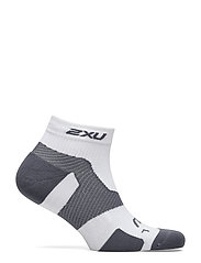 2XU - VECTR LIGHT CUSH 1/4 CREW SOC - ankelstrumpor - white/grey - 0