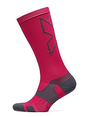 VECTR L.CushFullLengthSocks-U - HOT PINK/GREY