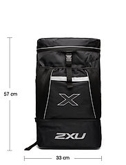 2XU - TRANSITION BAG - trainingstassen - black/black - 5