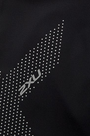 2XU - MOTION MID-RISE COMPRESSION T - sportleggings - black/dotted reflective logo - 2
