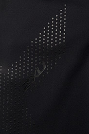 2XU - MOTION MID-RISE COMPRESSION T - sportleggings - black/dotted black logo - 2