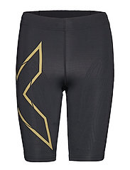 MCS Run Comp Shorts-W - BLACK/GOLD REFLECTIVE