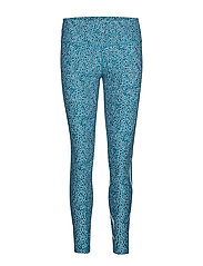 Print Mid-Rise Comp Tights-W - RAIN SPOT OCEAN TEAL/WHITE