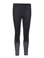 Wind Defence Compression Tights - BLACK/SILVER GLO REFLECTIVE