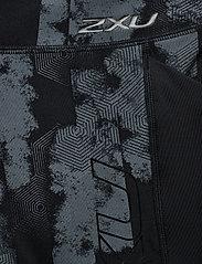 2XU - Print MidRise Pocket3/4Comp-W - compression tights - geo stripe/black - 3