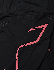 2XU - LIGHT SPEED MID-RISE COMPRESS - sportleggings - black/cranberry reflective - 8