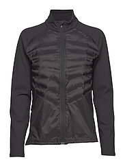 HEAT Half Puffer Jacket - BLACK/BLACK