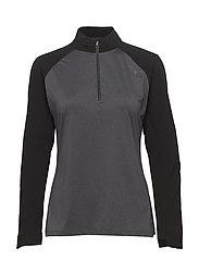 GHST 1/4 Zip Pullover-W - BLACK/BLACK MARLE
