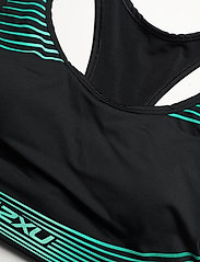 2XU - MOTION RACERBACK CROP - sport bras: medium - black/botanical - 2