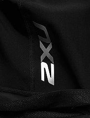 2XU - PERFORM FULL ZIP SLEEVED TRIS - training korte broek - black/shadow - 3