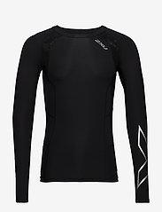 2XU - Compression L/S Top-M - bluzki z długim rękawem - black/silver - 0
