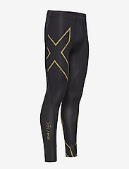 2XU - LIGHT SPEED COMPRESSION TIGHT - løbe- og træningstights - black/gold reflective - 2