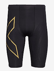 2XU - LIGHT SPEED COMPRESSION SHORT - trainingsshorts - black/gold reflective - 0