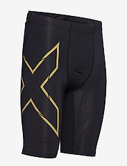 2XU - LIGHT SPEED COMPRESSION SHORT - trainingsshorts - black/gold reflective - 3